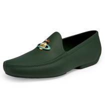 Orb Moccasins Dark Green