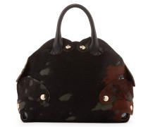 Large Flintstone Handbag 42030022 Black/Brown