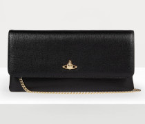 Victoria Clutch With Flap Black