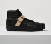 UA Sk8-Hi Platform Ps Black Leather