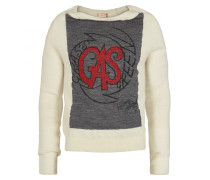 Garter Sweater Grey/White Mix