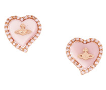 Leontyne Heart Earrings Pink