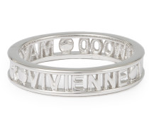 Sterling Silver Westminster Ring Rhodium