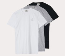 Three-Pack T-Shirt Black/White/Grey