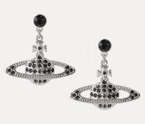 Mini Bas Relief Drop Earrings Silver-Tone