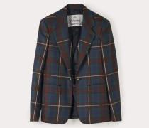 Waistcoat Jacket Brown Tartan