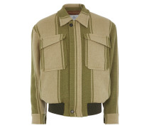 Harringtone Jacket in Pistachio/Natural