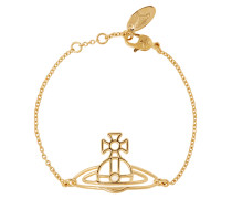 Anglomania Thin Lines Flat Orb Bracelet Gold