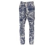 Anglomania Asymetrical Jeans Blue Tartan