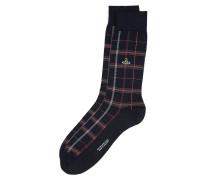 Check Socks Navy