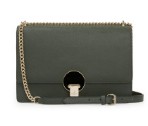 Large Opio Saffiano Bag With Flap 131213 in Green