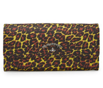 Anglomania Leopard Long Wallet 390045 Yellow