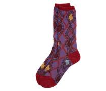 Geo Orb Socks Red One