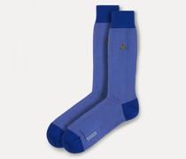 Plain Style Socks Blue