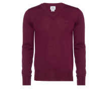 Purple Classic V-Neck Jumper