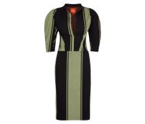 Green Stripe Victoria Dress