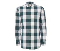 Two Button Krall Shirt Gingham Green