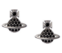 Tamia Cubic Zirconia Black Earrings