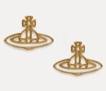Thin Line Flat Orb Stud Earrings