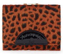 Anglomania Cheetah Wallet With Coin Pocket - Orange