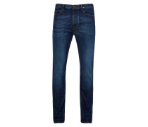 Blue Washed Denim New Classic Tapered Jeans