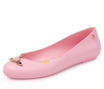 Vivienne Westwood & Anglomania Space Love Ballerinas Pink Matt