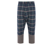 O Trousers Navy Check