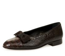 La Scala Court Slippers Chocolate Brown