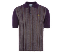 Spring Polo Shirt Purple Stripes