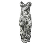 Carrie Pencil Dress Puppet Print Off White