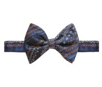 Scribbled Navy Blue Bow Tie One