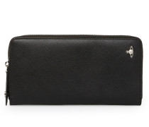 Kent Zip Rount Long Wallet 33416 Black