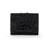 Anglomania Cheetah Wallet With Coin Pocket- Black
