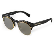 Gold Studded Black Sunglasses VW957S2BSG One