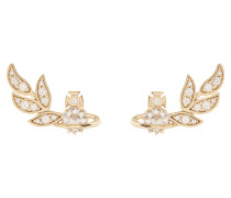 Amma Stud Earrings Pink Gold Plated