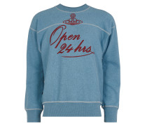 Anglomania Square Sweater 24 Hours Print Blue - XS