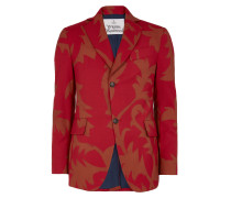 Peacock Jacket Red Print