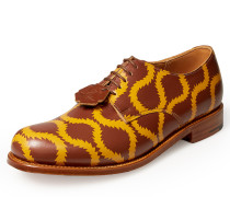 Men's Grenson Rust Yellow Squiggle Derby Shoes