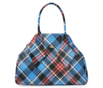 Large Derby Handbag -George Blue Tartan