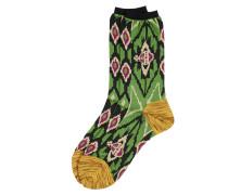 Ikat Socks Green One