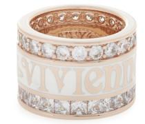Sterling Silver York Ring Pink Gold