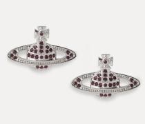 Mini Bas Relief Earrings Silver-Tone