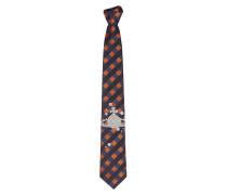 Spotty Orb Tie Blue/Orange -One