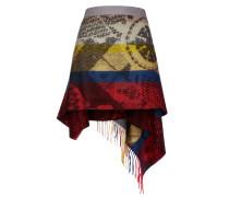 Pattern Blanket Wrap Skirt