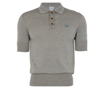 Classic Short Sleeved Polo Knit Grey