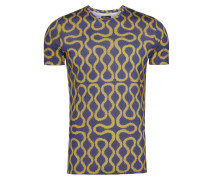 Gold Blue Squiggle T-Shirt