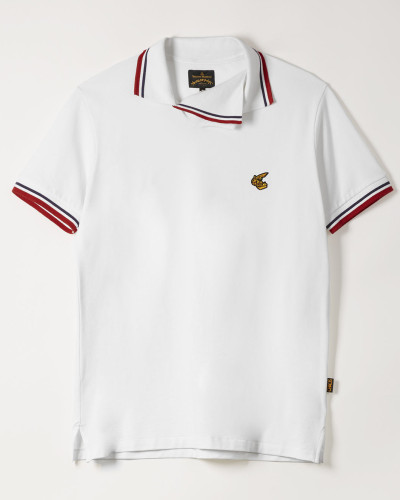 Squiggle Polo Shirt White
