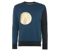 Classic Round Neck Sweater Petrol Blue/Black