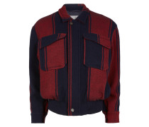 Harringtone Jacket in Red/Blue