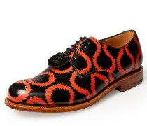 Vivienne Westwood Men's Grenson Black Red Squiggle Derby Shoes